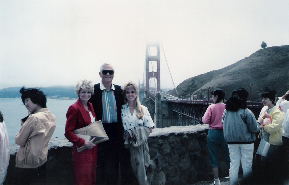 Ray, Ann & Lisa - Golden Gate Bridge, San Fran, CA  - 1987