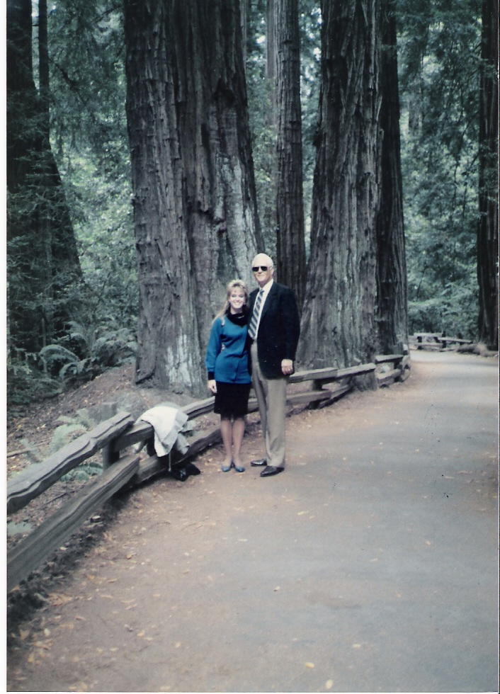 Ray & Lisa - Redwood Forest, CA - 1987